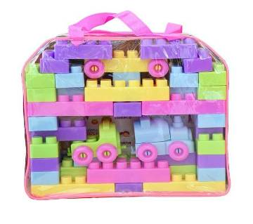 Blocks and Building Toy Set - Multi Color 500 g