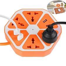 4 Power Sockets & 4 USB Ports Plug