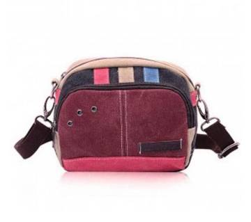Canvas Sidebag- Pink