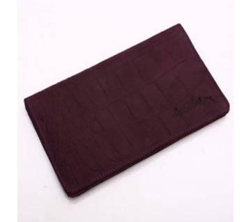 Leather ওয়ালেট Purple