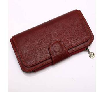 Leather Clutch Red