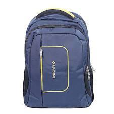 Traveler Navy Blue Nylon Backpack
