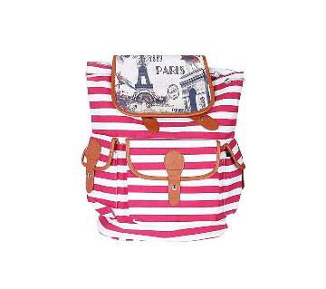 Eastern Bag Gallery Pink and White Polyester Backpack