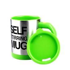 Stirring Mug Cup - Yellow and Silver