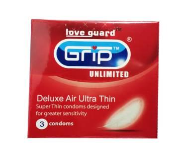 Grip Ultra Thin Malaysian Condom-3pcs
