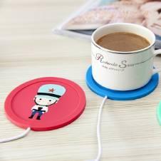 Cliry Hot Silicone Coaster USB কাপ হিটার