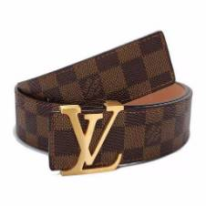 Louis Vuitton Damier Ebene মেনজ লেদার বেল্ট (কপি)