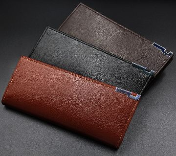 Long shaped Mens Artificial-leather Wallet