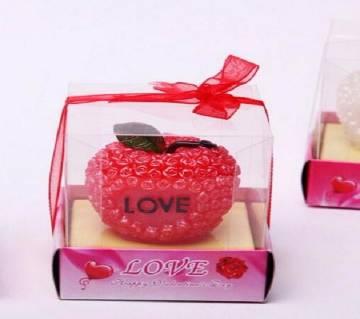 Valentine Apple Candle Gift Box