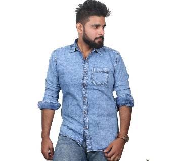 Mens Full Sleeve Denim Casual Shirt