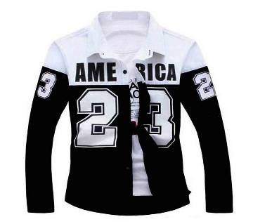 Full Sleeve Casual Shirt -BLACK & WHITE