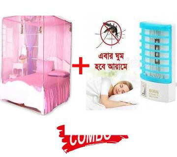 MAGIC mosquito net + Mosquito Killing Lamp Combo Offer