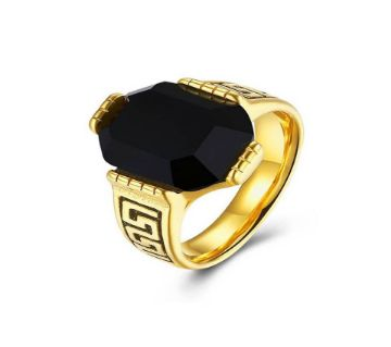 Golden Stainless Still Finger Ring For men