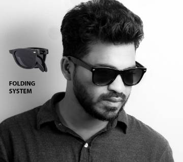 Black Folding Sunglasses for Men