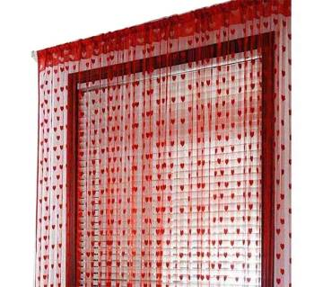 HANDLOOMHUB red heart net curtain - 1 pcs
