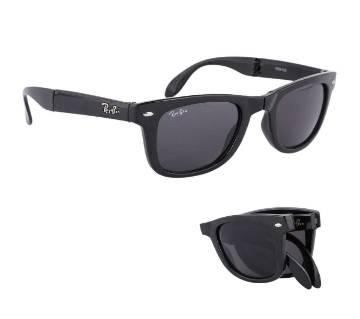 Black Folding Sunglasses for Men