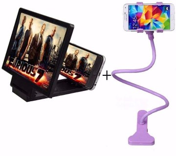 3D Mobile Screen Enlarger + Mobile Stand combo