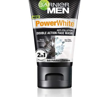 Garnier Men Power White Double Action ফেস ওয়াশ - 100gm - Ind