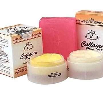 Collagen  plus day&night cream &soap
