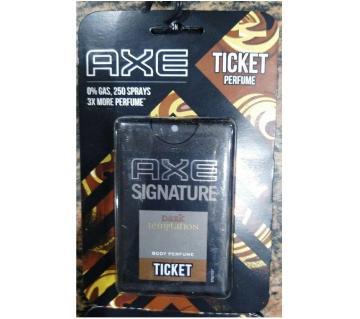 Axe ticket perfume