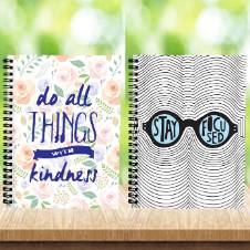 Note Book : Floral And Stay Focus (Lined)