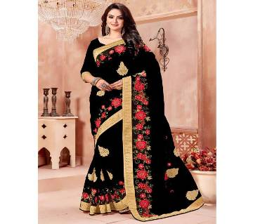 Indian Soft Georgette Embroidery Sharee (Replica)