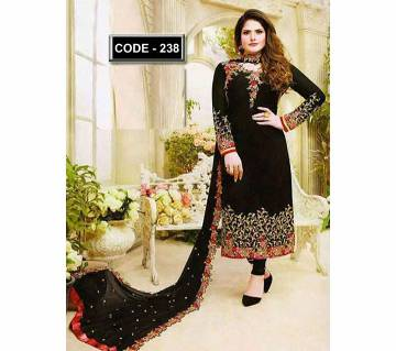Unstitched georgette embroidery salwar kameez for women