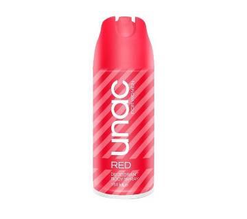 UNAC RED Deodorant বডি স্প্রে - 150ml Turkey
