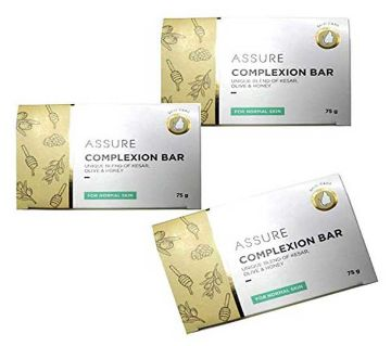 Assure Complexion Bar-Kesar, Honey & Olive 75gm India (1 pcs)