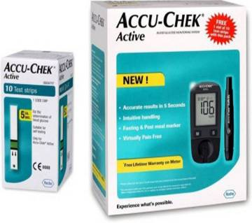 Accu-Chek Active Blood Glucose Monitoring System With 10 Test Strips