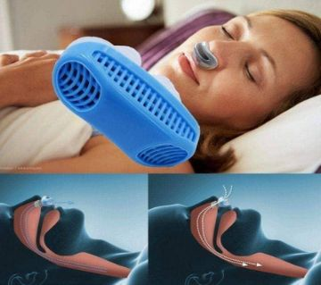 2 In 1 Anti Snoring and Air Purifier Silicone Snore Nose Clip Vents