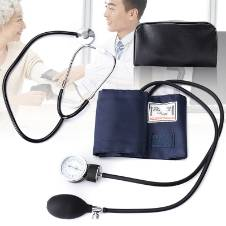 Manuel Blood Pressure Mechine Aneroid Sphygmomanometer with Stethoscpe
