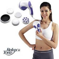 Relax Tone Spin Body Massager With 5 Headers Relax Spin Tone Slimming Lose Weight Burn Fat Full Body Massage Device