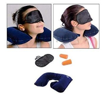 3 in 1 Travel Neck Pillow Set