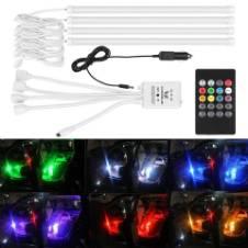 4PCS RGB LED ভয়েজ মিউজিক রিমোট কন্ট্রোল ডেকোরেশন ল্যাম্প
