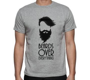 Beards Over Everything মেনজ রাউন্ড নেক শর্ট স্লিভ টি-শার্ট