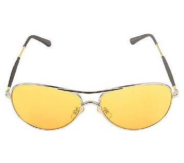 Black Plastic Yellow Shaded Sunglasses for Men