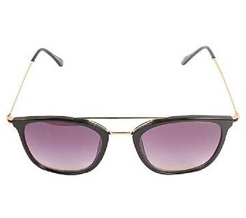 Golden Stainless Steel Purple Shaded Sunglasses for Men