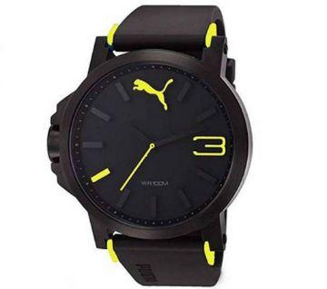 Black Yellow Sport Watch For Men