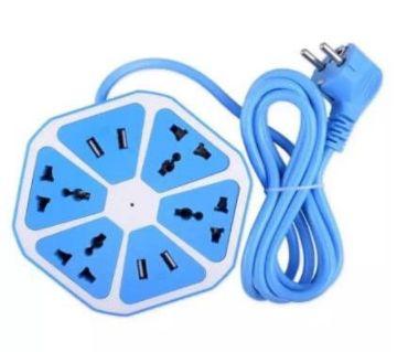 4 USB And Four Socket Multiplug & hub