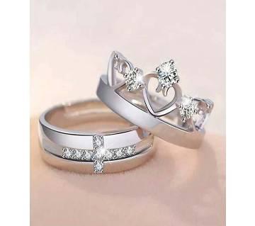 Prince And Princess Crown Couple Ring