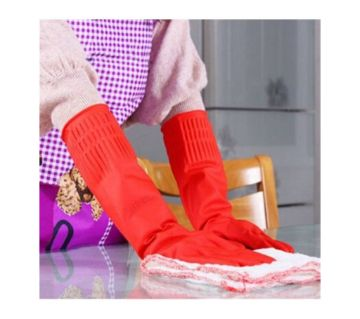 Hand Kitchen Glavs - red