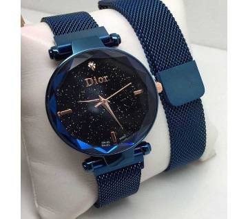 Dior Magnet Strap Buckle Stainless Steel Women Girl Gift-blue