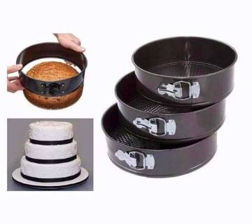 Round shaped cake pan (3 piece)