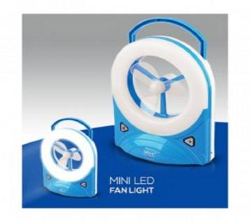 rechargeable mini fan lamp