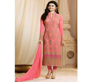 Semi Stitched Georgette Embroidery Long Party Suit (Copy)