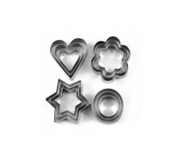twelve pic silver kuki cutter