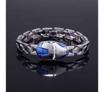 Iron Man Mask Silver Bracelet - Silver