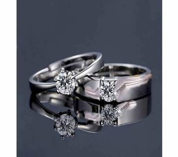 Silver Zinc Alloy Finger Ring for Couple