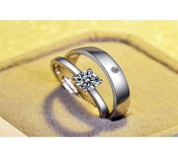 Silver Stainless Steel Couple Finger Ring for Valentine Special